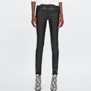 Zara Basic Coated Skinny Ankle Jeans